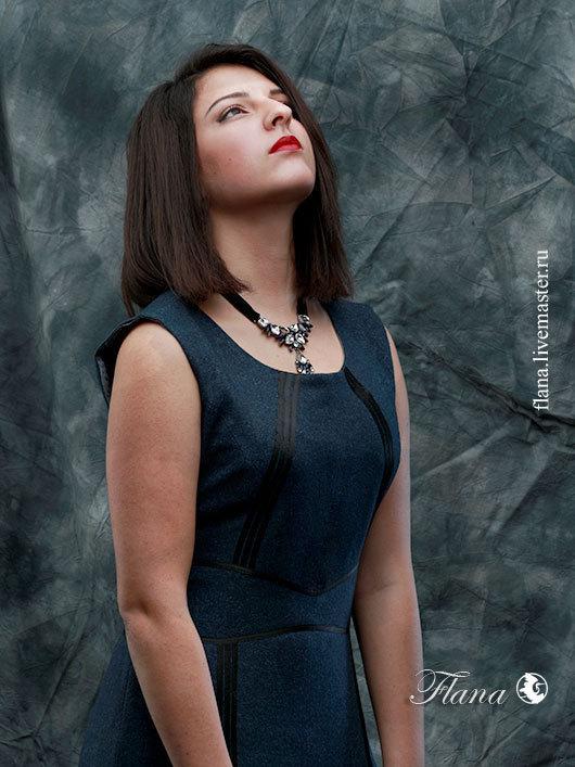 Платье-футляр `Шери` (твид), индивидуальный пошив, Флана