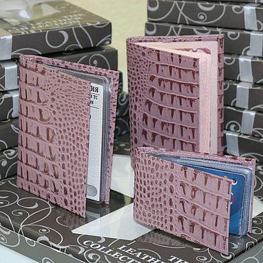 Аксессуары ручной работы. Ярмарка Мастеров - ручная работа Подарочный набор из кожи Ирис под каймана. Handmade.