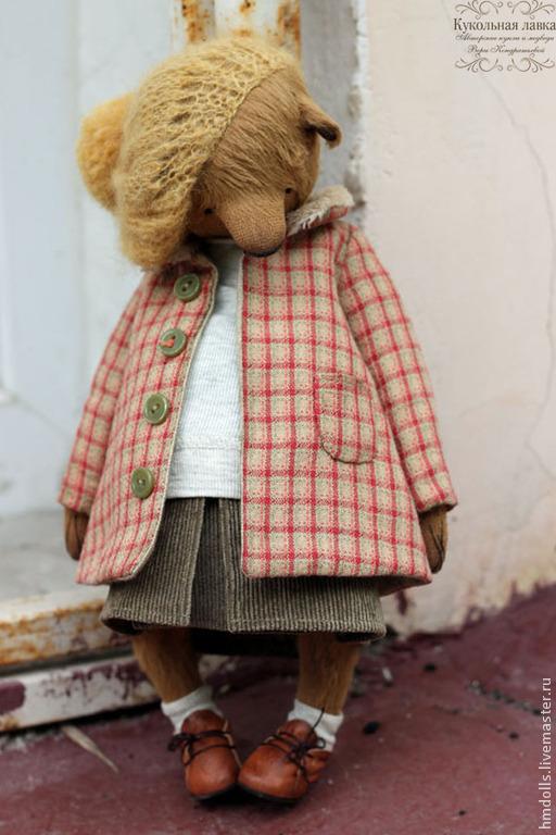 Мишки Тедди ручной работы. Ярмарка Мастеров - ручная работа. Купить Марго. Handmade. Коричневый, тедди, мишка в одежке