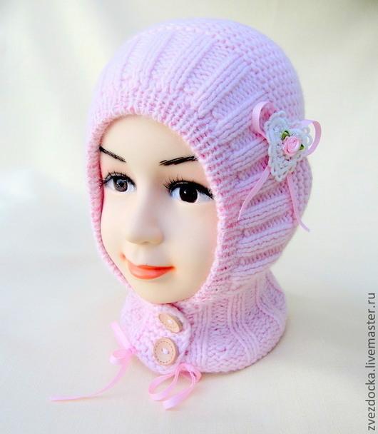 """Шапки и шарфы ручной работы. Ярмарка Мастеров - ручная работа. Купить шапка - шлем """"Gentle rose"""". Handmade. Бледно-розовый"""