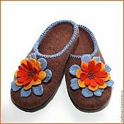"""Обувь ручной работы. Ярмарка Мастеров - ручная работа Тапочки """"Разноцветие1"""". Handmade."""