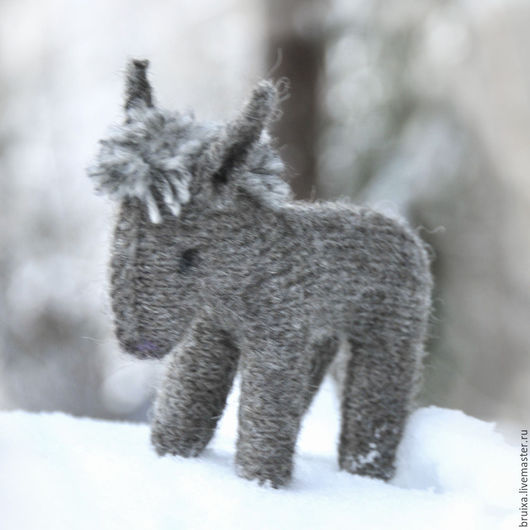 Вальдорфская игрушка ручной работы. Ярмарка Мастеров - ручная работа. Купить Игрушка  вязаный ослик Серый ослик. Handmade. Серый