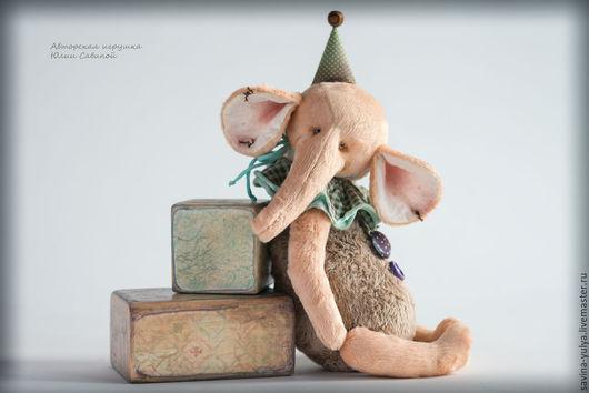 Игрушки животные, ручной работы. Ярмарка Мастеров - ручная работа. Купить Слонёнок. Handmade. Бежевый, слоненок, подарок на любой случай