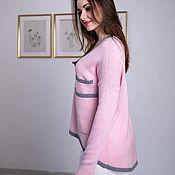 Схемы для вязания ручной работы. Ярмарка Мастеров - ручная работа Мастер-класс Пуловер Розовый. Handmade.