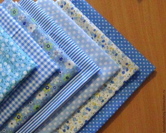 Куклы и игрушки ручной работы. Ярмарка Мастеров - ручная работа. Купить Набор тканей из хлопка (6). Handmade. Ткань, хлопок