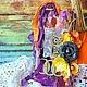 Открытки к другим праздникам ручной работы. Ярмарка Мастеров - ручная работа. Купить Тэг ( открытка ) к Хэллоуину. Совенок. Handmade.