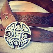 Ремни ручной работы. Ярмарка Мастеров - ручная работа Ремень с кельтским узором из натуральной кожи мужской женский кожаный. Handmade.