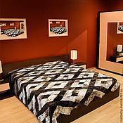 Для дома и интерьера ручной работы. Ярмарка Мастеров - ручная работа Покрывало на кровать из меха (код: 401). Handmade.