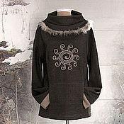 Одежда ручной работы. Ярмарка Мастеров - ручная работа Джемпер Северное солнце. Handmade.