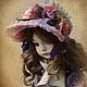 Коллекционные куклы ручной работы. Ярмарка Мастеров - ручная работа. Купить Элис. Handmade. Сиреневый, кукла интерьерная