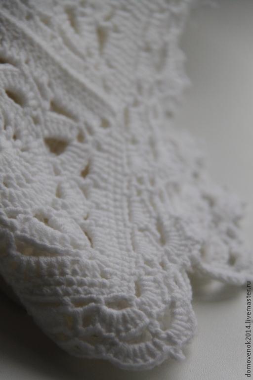 Текстиль, ковры ручной работы. Ярмарка Мастеров - ручная работа. Купить Плед Крылья ангела. Handmade. Белый, на выписку, плед