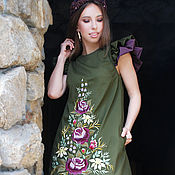 Одежда handmade. Livemaster - original item Exclusive dress with hand-embroidered