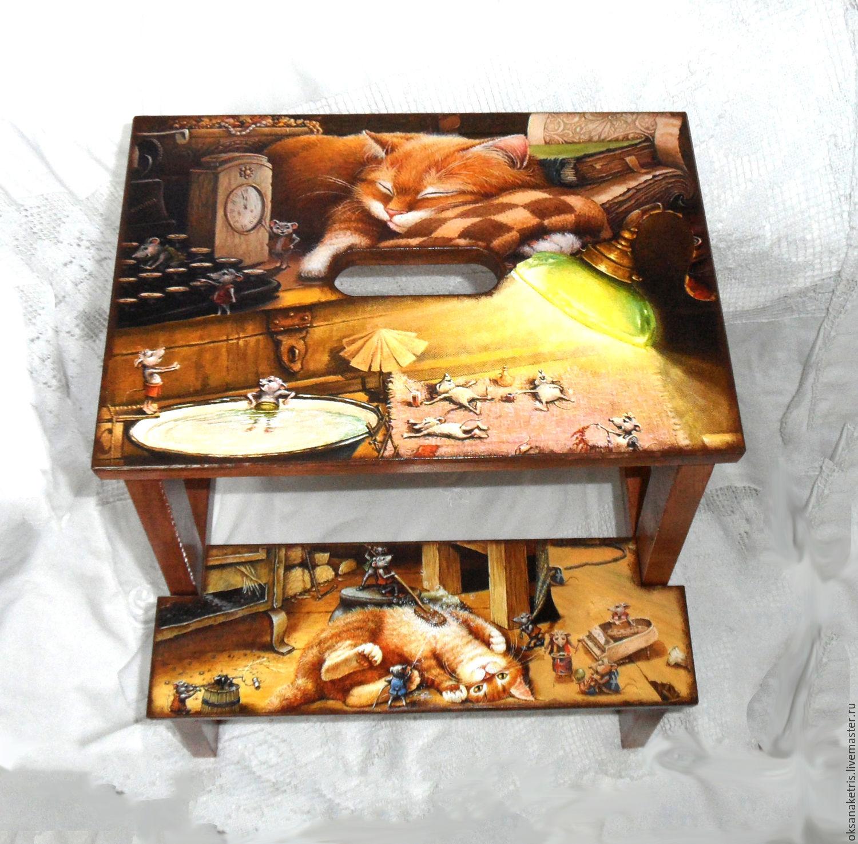 Stepladder - stool cat Kuzma kuzkina mouse, Stools, Novosibirsk,  Фото №1