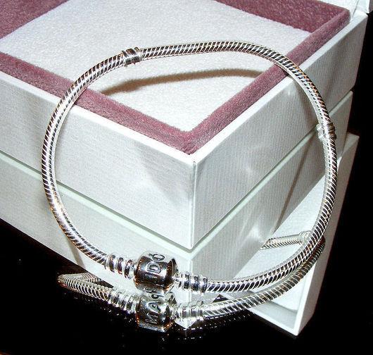 Для украшений ручной работы. Ярмарка Мастеров - ручная работа. Купить Серебряный браслет-основа фирмы PANDORA. Handmade.