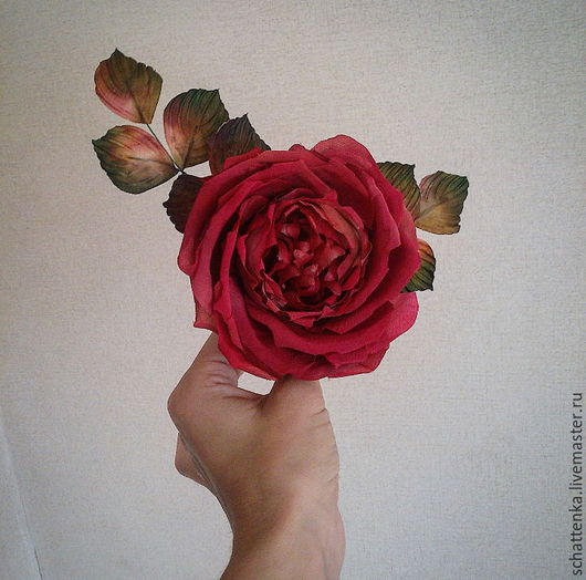Диадемы, обручи ручной работы. Ярмарка Мастеров - ручная работа. Купить Староанглийская роза. Handmade. Розовый, роза из шелка
