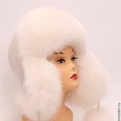 Аксессуары ручной работы. Ярмарка Мастеров - ручная работа Женская шапка белая, Финский FOX  SAGA Royal. Handmade.