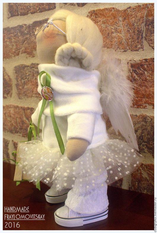 Коллекционные куклы ручной работы. Ярмарка Мастеров - ручная работа. Купить Ангел. Handmade. Белый, куклы и игрушки, хлопок