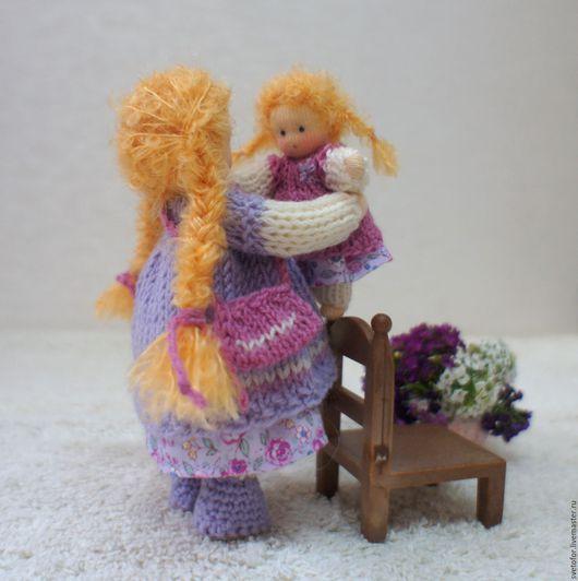 Вальдорфская игрушка ручной работы. Ярмарка Мастеров - ручная работа. Купить Куколка с кукленком, 12 и 6.5 см. Handmade.