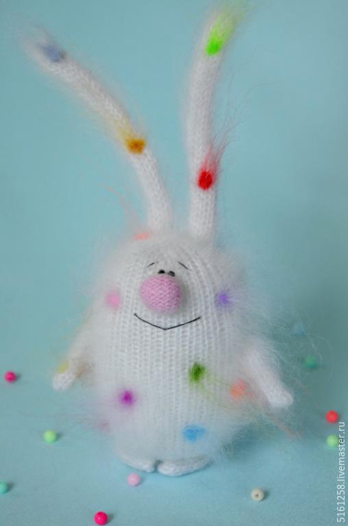 """Игрушки животные, ручной работы. Ярмарка Мастеров - ручная работа. Купить Вязаный заяц """"Конфетный"""" ( Игрушки для детей / пушистики / кролики). Handmade."""