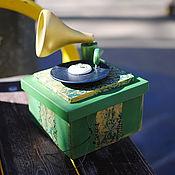 """Шкатулки ручной работы. Ярмарка Мастеров - ручная работа Шкатулка - Граммофон """"Мелодия"""". Handmade."""