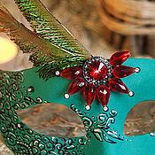 """Одежда ручной работы. Ярмарка Мастеров - ручная работа Карнавальная маска """" Изумрудная звезда"""". Handmade."""