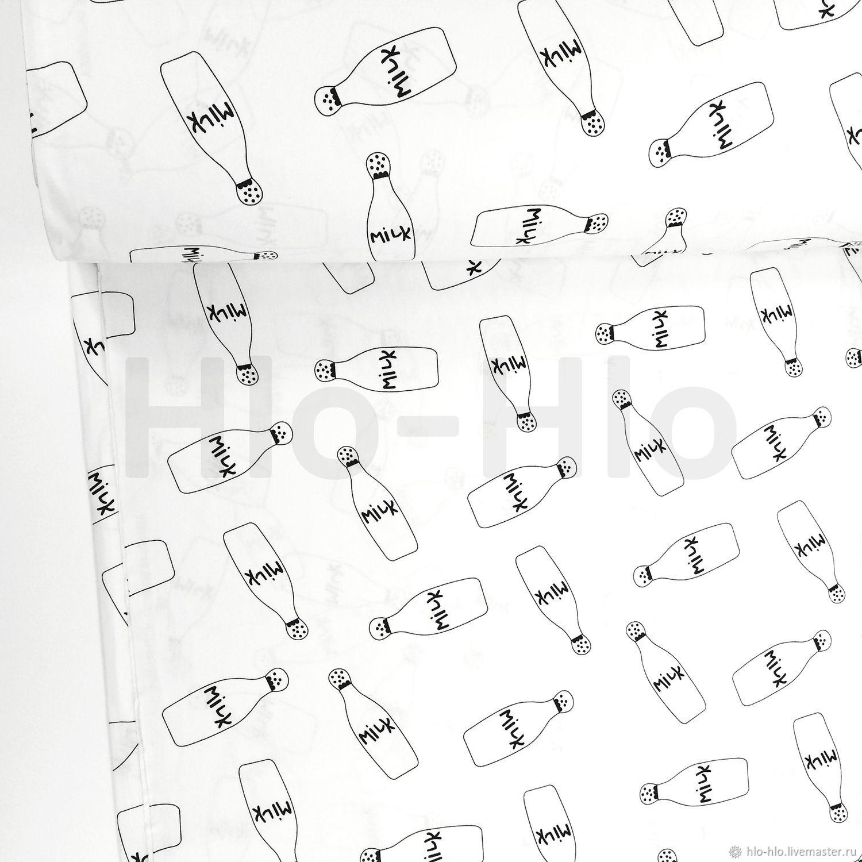 ручной работы. Ярмарка Мастеров - ручная работа. Купить Хлопок Турция — Бутылочки Milk. Handmade. Хлопок, ткань хлопок