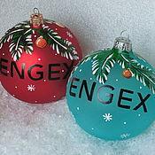 Подарки к праздникам ручной работы. Ярмарка Мастеров - ручная работа Корпоративный елочный шар. Handmade.
