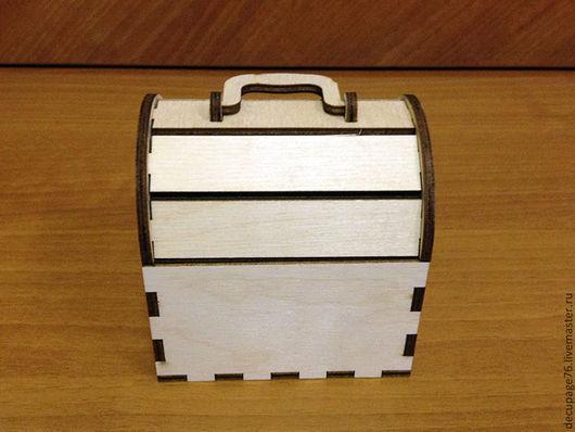 Сундучок с откидной крышкой (продается в разобранном виде) Размер: 10х10х8 см Материал: фанера 4 мм