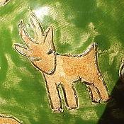 Посуда ручной работы. Ярмарка Мастеров - ручная работа Пиала для чая Коза и капуста. Handmade.