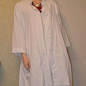 Одежда ручной работы. Ярмарка Мастеров - ручная работа Бохо лен пальто романтик для пышек. Handmade.