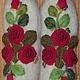 Варежки, митенки, перчатки ручной работы. Варежки с вышивкой Красные розы рококо. Ludmila Batulina (milenaleoneart). Интернет-магазин Ярмарка Мастеров.