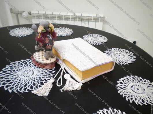 Текстиль, ковры ручной работы. Ярмарка Мастеров - ручная работа. Купить Комплект салфеток натурального цвета льна крючком. Handmade.
