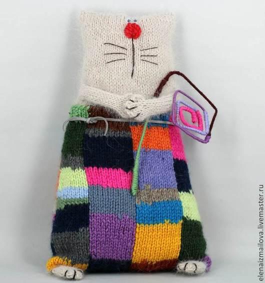 Игрушки животные, ручной работы. Ярмарка Мастеров - ручная работа. Купить Мартовский котик- квадратик. Handmade. Разноцветный, то, печворк