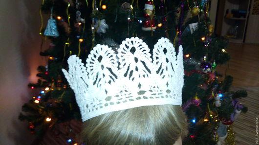 Детские карнавальные костюмы ручной работы. Ярмарка Мастеров - ручная работа. Купить Корона для принцессы. Handmade. Белый, Новый Год