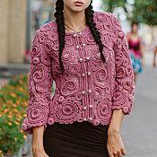 """Одежда ручной работы. Ярмарка Мастеров - ручная работа Жакет """" Розовая бабочка """". Handmade."""