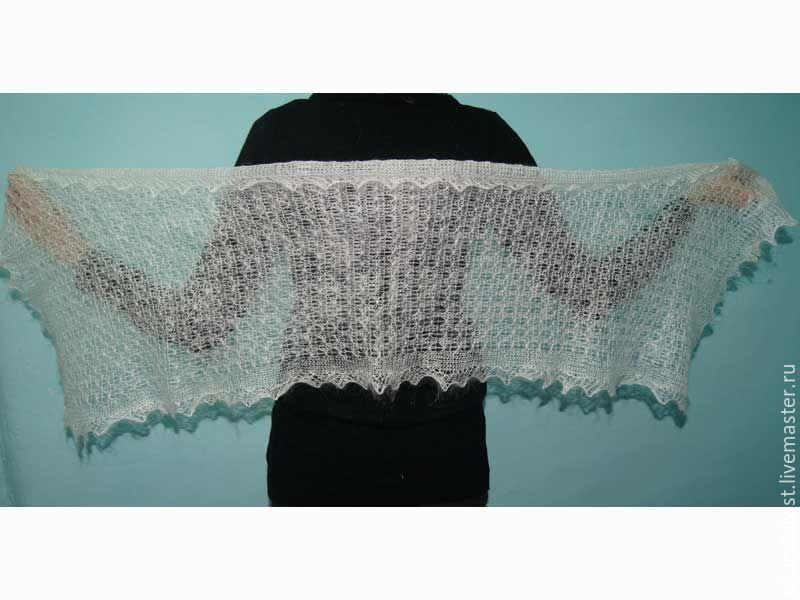 шарф из козьего пуха своими руками