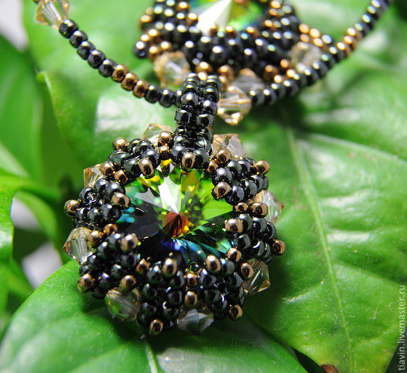 Necklace and earrings bead 'Keeper of the summer forest', Jewelry Sets, Odintsovo,  Фото №1