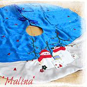 Для дома и интерьера ручной работы. Ярмарка Мастеров - ручная работа Коврик под Ёлку или юбка для Ёлки. Handmade.