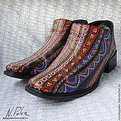 """Обувь ручной работы. Ярмарка Мастеров - ручная работа Роспись по обуви. """"Черевички для Катеньки"""". Handmade."""