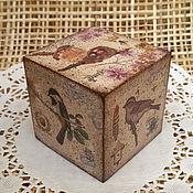 Сувениры и подарки ручной работы. Ярмарка Мастеров - ручная работа Деревянные кубики для фотосессий, массив сосны, декупаж. Handmade.