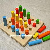 Куклы и игрушки handmade. Livemaster - original item Toy Logical Line Cylinders Montessori. Handmade.