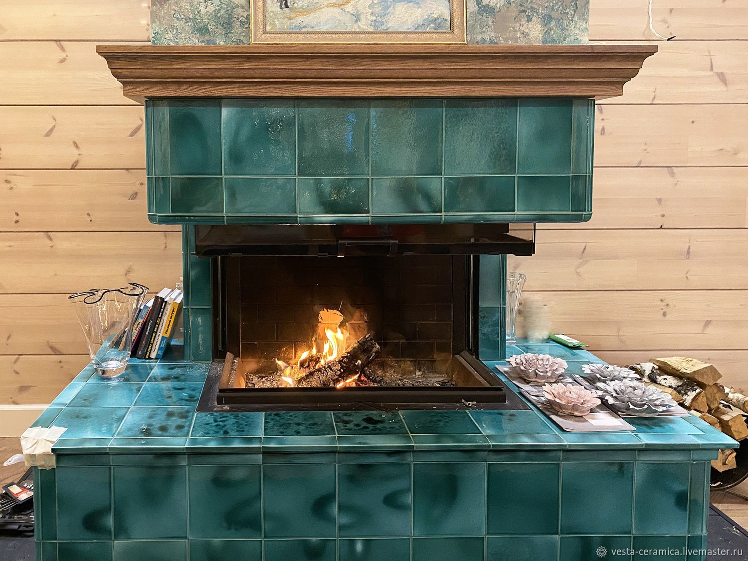 Tile fireplace 'Mallorca', Fireplaces, Moscow,  Фото №1