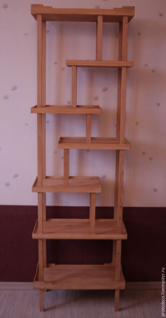 Мебель ручной работы. Ярмарка Мастеров - ручная работа. Купить Этажерка (полка) в японском стиле. Handmade. Бежевый, японский стиль