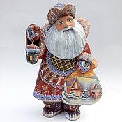 Подарки к праздникам handmade. Livemaster - original item Santa Claus with a flashlight. Handmade.