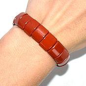 Украшения handmade. Livemaster - original item Bracelet made of natural red Ural Jasper. Handmade.