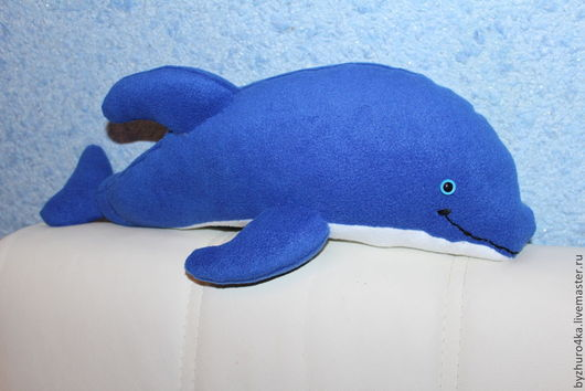 Игрушки животные, ручной работы. Ярмарка Мастеров - ручная работа. Купить Дельфин из флиса. Handmade. Тёмно-синий, флиппер