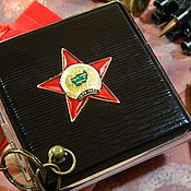 Сувениры и подарки handmade. Livemaster - original item Cigarette case for 20 cigarettes with symbols of the USSR