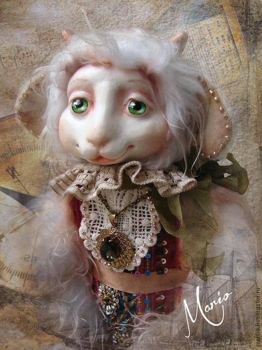 Коллекционные куклы ручной работы. Ярмарка Мастеров - ручная работа. Купить козлик Фабиан. Handmade. Белый, козлик