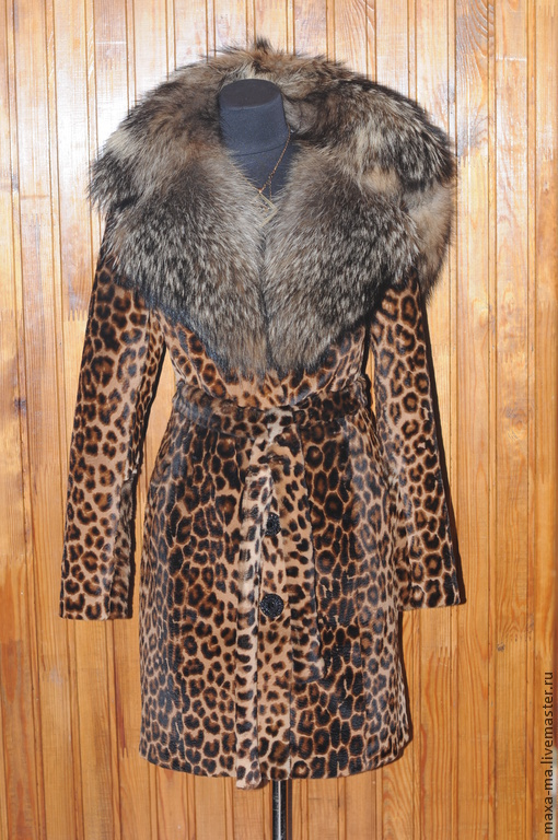 Верхняя одежда ручной работы. Ярмарка Мастеров - ручная работа. Купить Шуба из меха кенгуру-леопард.. Handmade. Шуба