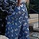 Брюки, шорты ручной работы. Длинная летняя юбка-брюки. image4you (Лариса). Ярмарка Мастеров. Брюки, белый, джинсы, однотонный